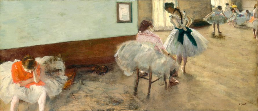 Edgar-Degas-The-Dance-Lesson-c.-1879-Painting-onarto