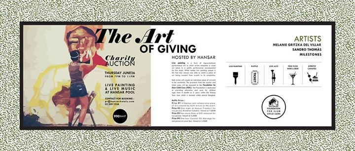 """The Art of Giving"", charity event @ HANSAR Bangkok"