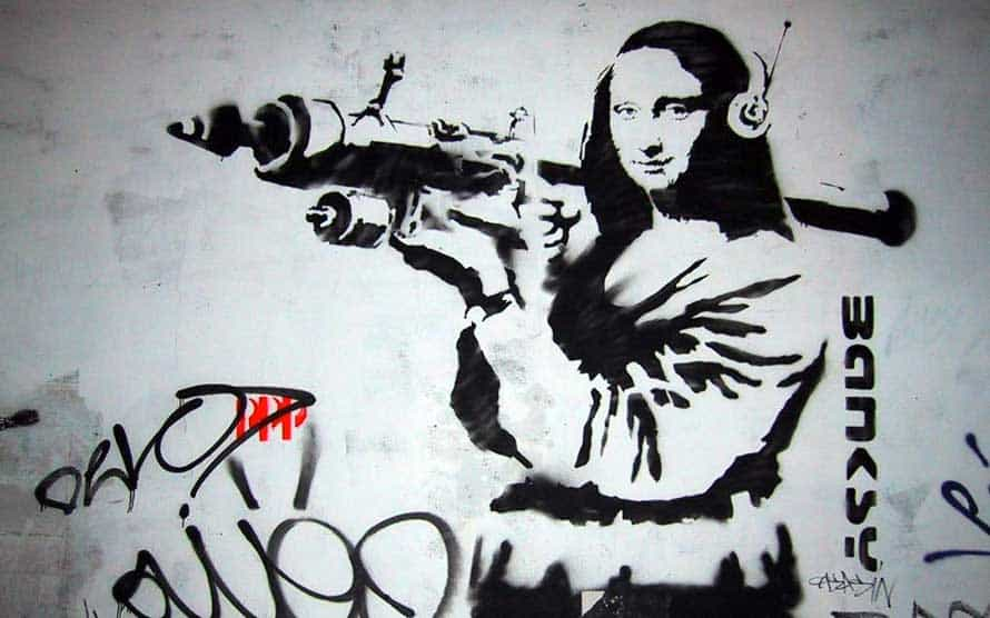 Banksy graffiti mona lisa