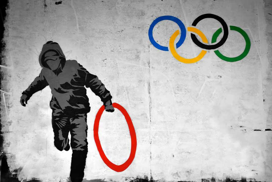 Banksy graffiti olympic