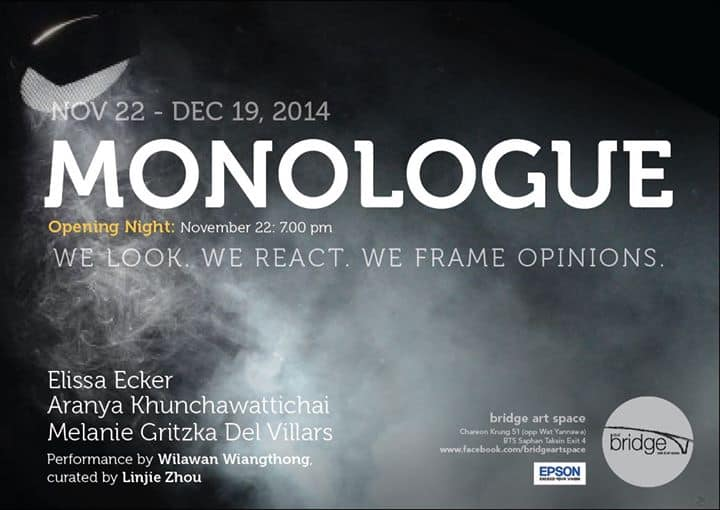 Monologue # Three Female Artists @ Bridge