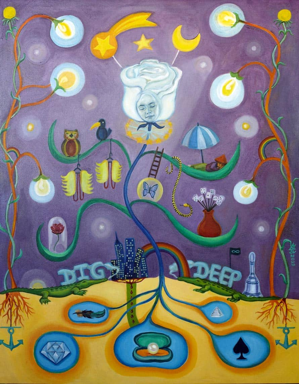 Melanie Gritzka del Villar - Contemporary Art - Dig Deep- 80 CM X 100 CM