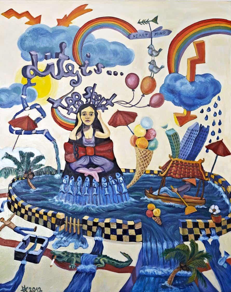 Melanie Gritzka del Villar - Contemporary Art - Life Is Too Short- 80 CM X 100 CM