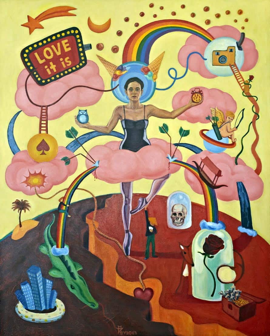 Melanie Gritzka del Villar - Contemporary Art - Love It Is- 80 CM X 100 CM