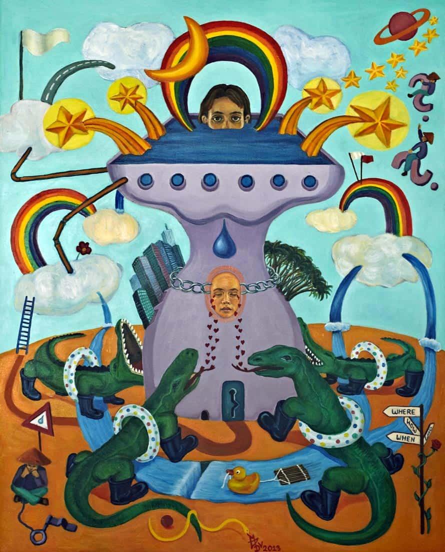 Melanie Gritzka del Villar - Contemporary Art - My Arch- 80 CM X 100 CM