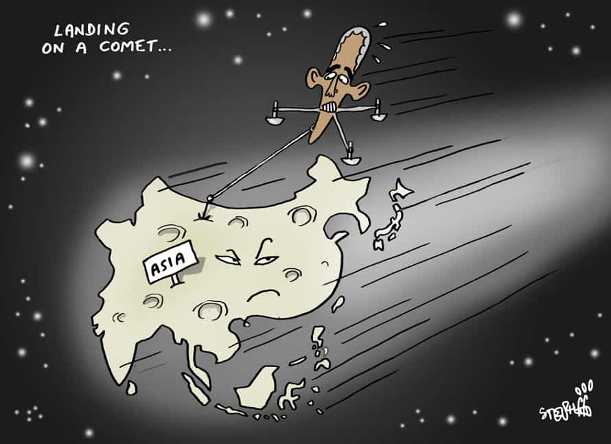 thai art thailand politics cartoon stephff landing on a comet