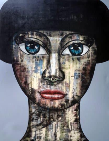 Art For Sale # Age # Thai Art # Gray # 130 X 170 cm