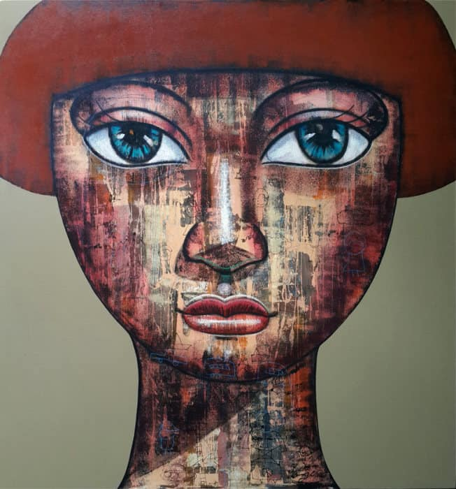 Art For Sale # Age # Thai Art # Brown # 130 X 160 cm
