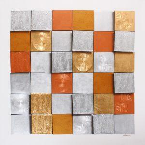 Art For Sale # Anek # Squares # Acrylic Painting # Thai Art # 7