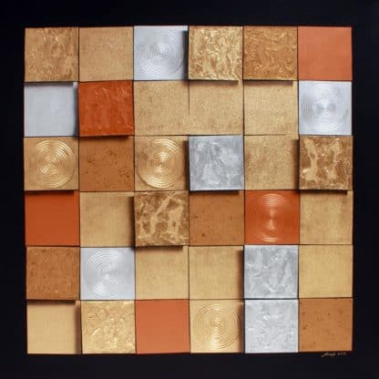 Art For Sale # Anek # Squares # Acrylic Painting # Thai Art # 9