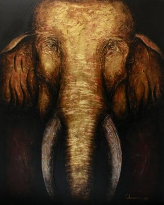Art For Sale # Chaiwan # Elephant Art Thailand # 1