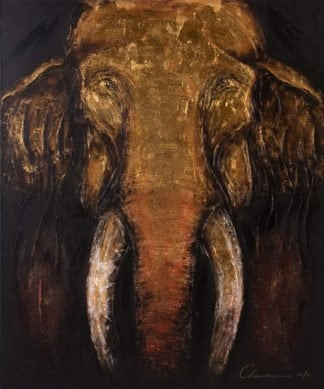 Art For Sale # Chaiwan # Elephant Art Thailand # 3