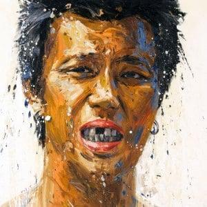 Art For Sale # Dusit Pimchangtong # Brother # Thai Art