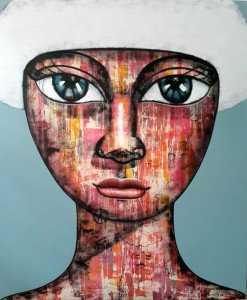 Art For Sale # Padungphon Rincom # Thai Art # White # 120 X 145 cm