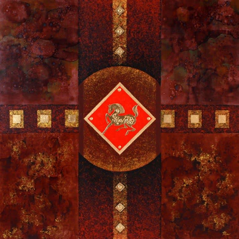 Art For Sale # Pinya # Zodiac # Thai Art # 7