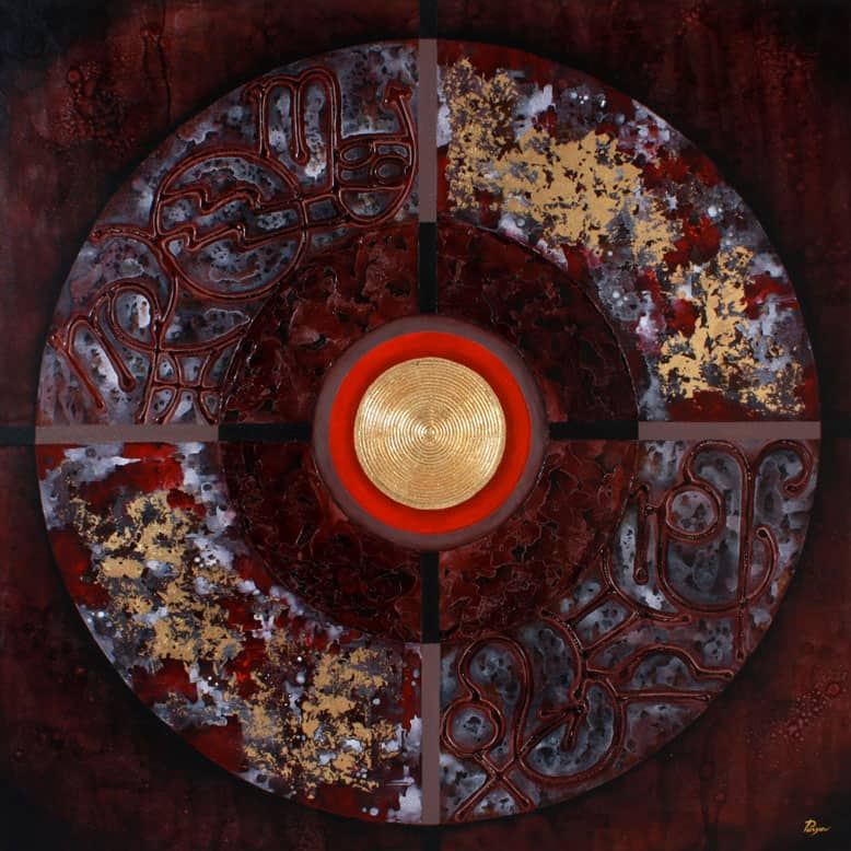 Art For Sale # Pinya # Zodiac # Thai Art # 9