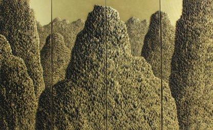 Art For Sale # Saenkom Chansrinual # Grand Moutain # Gold # 1 # Landscape Painting