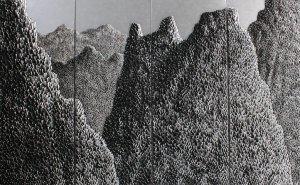 Art For Sale # Saenkom Chansrinual # Grand Moutain # Silver # c1 # Landscape Painting