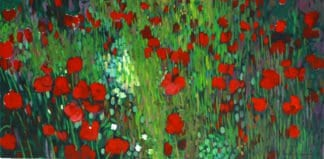 Art For Sale # Sophon Waenthongkham # Coquelicots # Oil Painting # Flowers