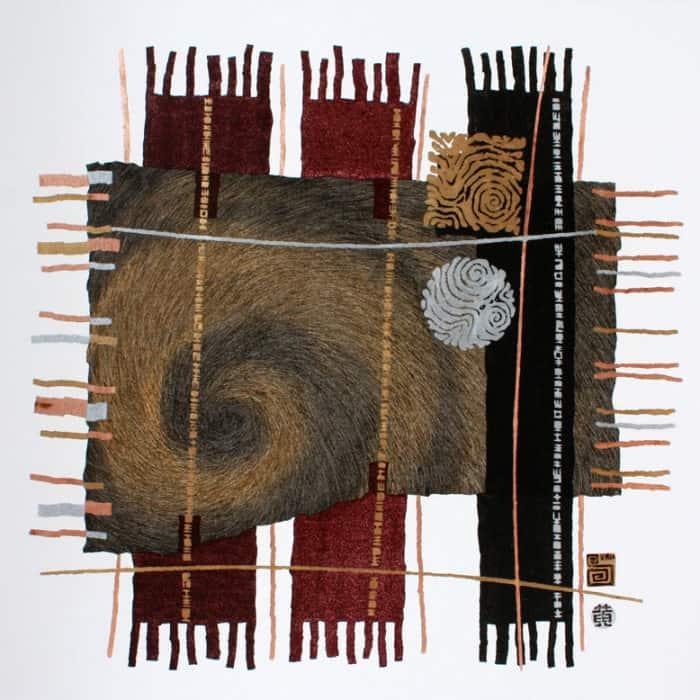 Art For Sale # Surin # Earth Element # Thai Art # 1 # 90 X 90 cm