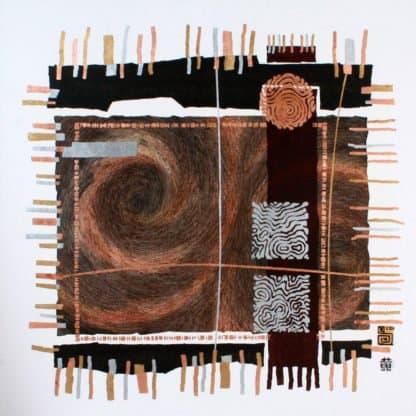 Art For Sale # Surin # Earth Element # Thai Art # 4 # 90 X 90 cm