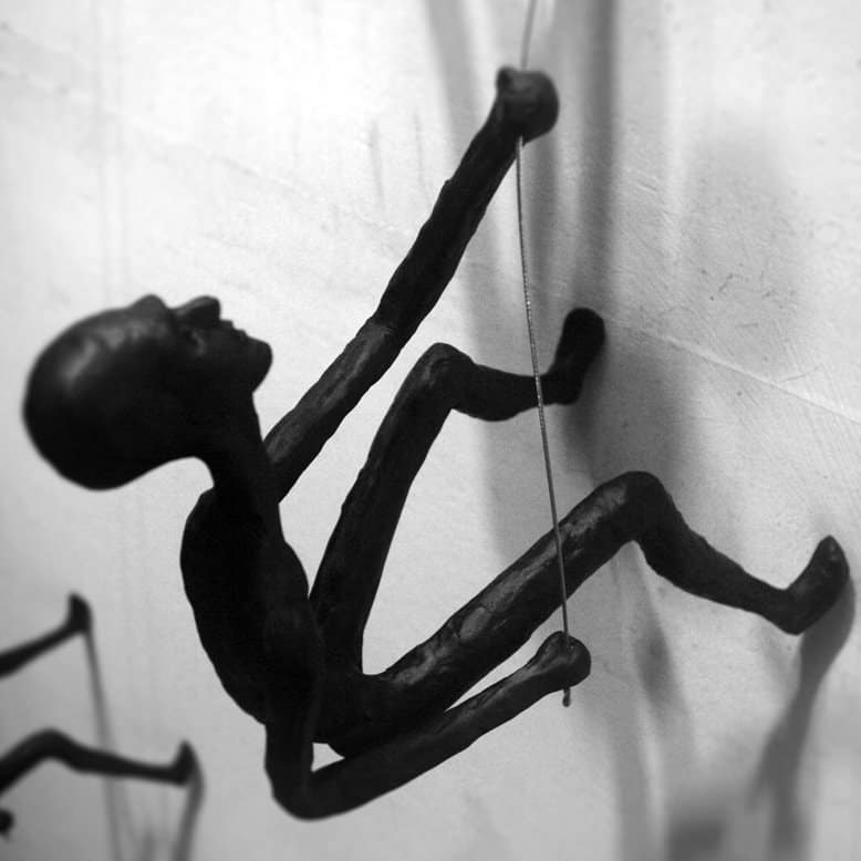 Climbing Man Wall Sculpture For Sale # Tanop Wichyanundh # 1