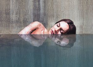 Hyper-realistic Bathing Ladies Street Art by Hula 1