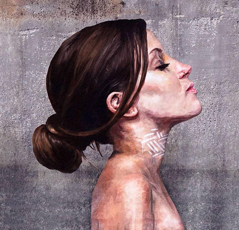 Hyper-realistic Bathing Ladies Street Art by Hula 7