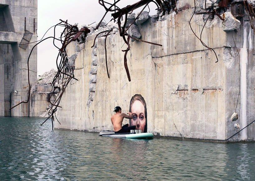 Hyper-realistic Bathing Ladies Street Art by Hula 8