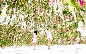 Superb Floating Flowers Installation # Tokyo