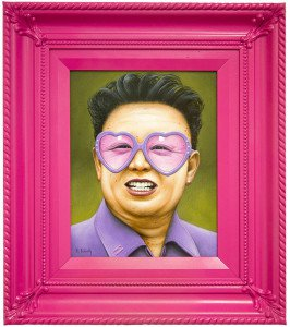 Tyrans and Dictators Pink Pop Art by scott scheidly
