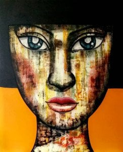 Padungphon Rincom - Thai art - 130x160 - Orange