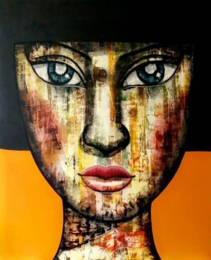 Padungphon Rincom - Thai art - 130x160 - Orange