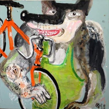 Jirawat Pramphet - Rider In Green - 65 X 65