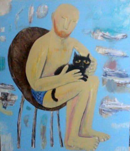 Kitti Narod - Gwyn and Cat - 130 x 150 - Gay Art