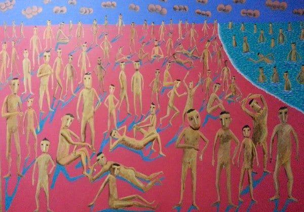Kitti Narod - Pink Beach - 185 x 130 - Gay Art