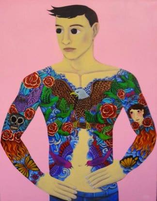 Kitti Narod - Tattoo 2 - 100 x 140 - Gay Art