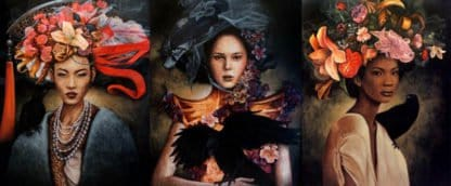 Kraiphet Pitakpreechakij - 3 Ladies - 100 x 240 - Triptych