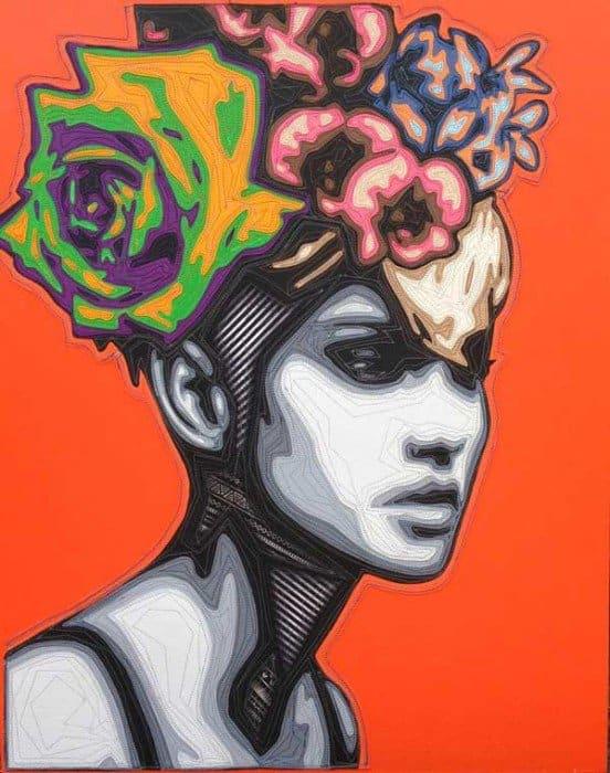 Kraiphet Pitakpreechakij - Lady - Orange - 80 x 100
