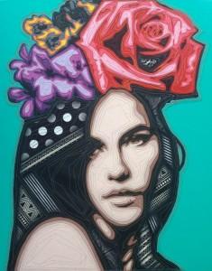 Kraiphet Pitakpreechakij - Lady - Turquoise - 80 x 100