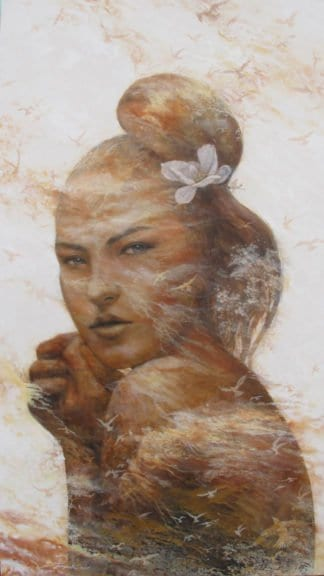 Pongsak Kamjornrasamekit - Floating in the wind - 90 x 160 - Thai Art
