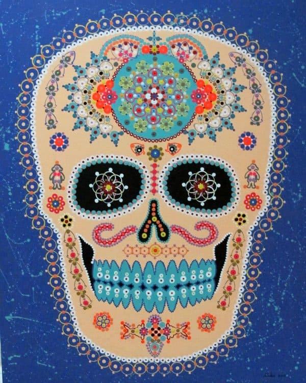Vatcharapong Nakakrut - Sugar Skull (Purple) - 80 x 100