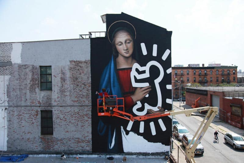 BSA Most Popular Murals of 2015 - Street Art - New York - Owen Dippie - Radiant Madonna