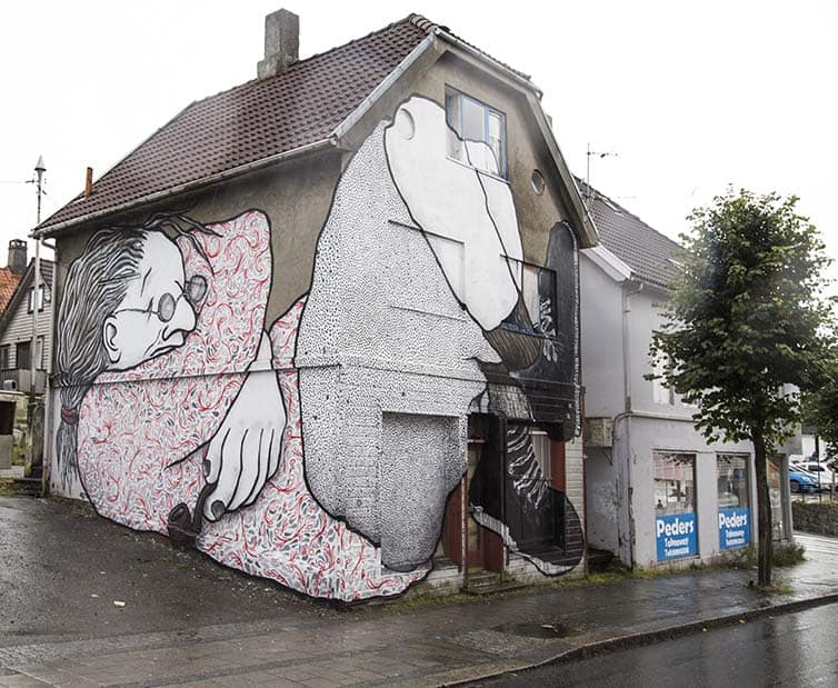 BSA Most Popular Murals of 2015 - Street Art - Norway - Stavanger - Ella & Pitr