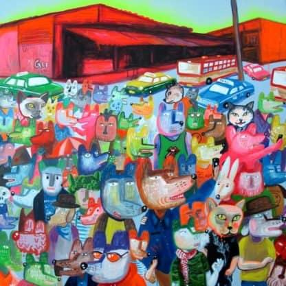 Gee - My Town 2 - 110 x 110 - Thai Art