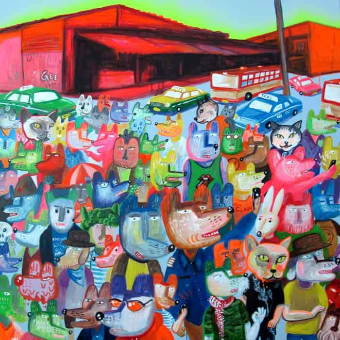 Gee - My Town 2 - 110 x 110 - Thai Art
