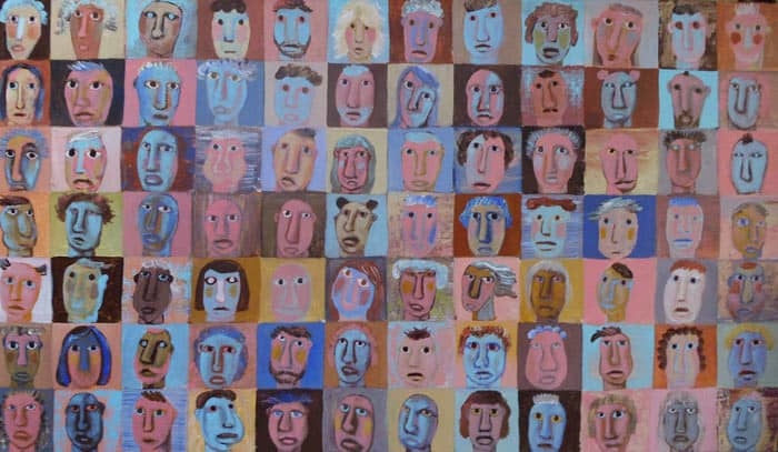 Kitti Narod - Untitled Faces 3 - 120 x 70