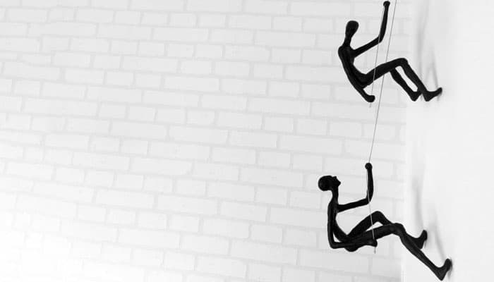Climbing Man Wall Sculpture - Contemporary-Wall-Art-White