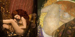 Inge Prader - Photographer Recreates - Gustav Klimt 03 - feat