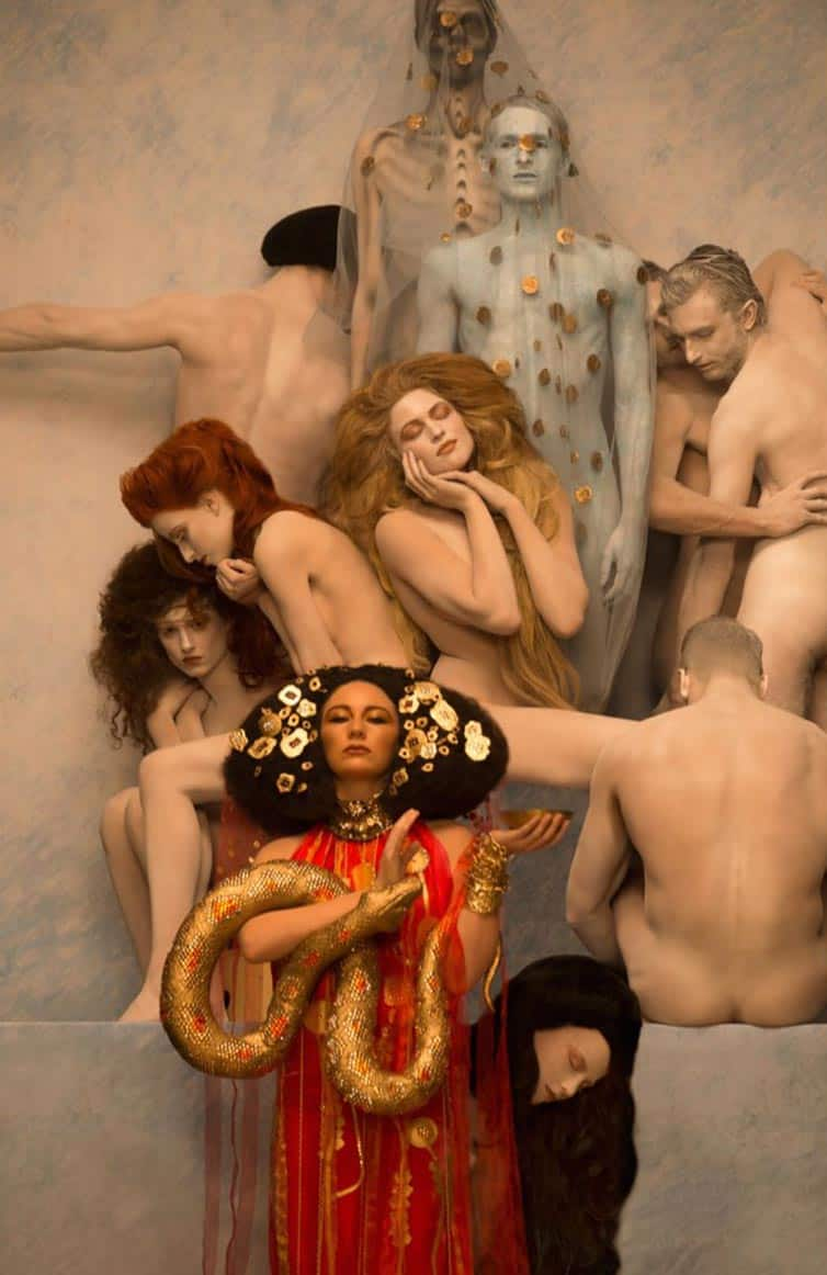 Inge Prader - Photographer Recreates - Gustav Klimt 05